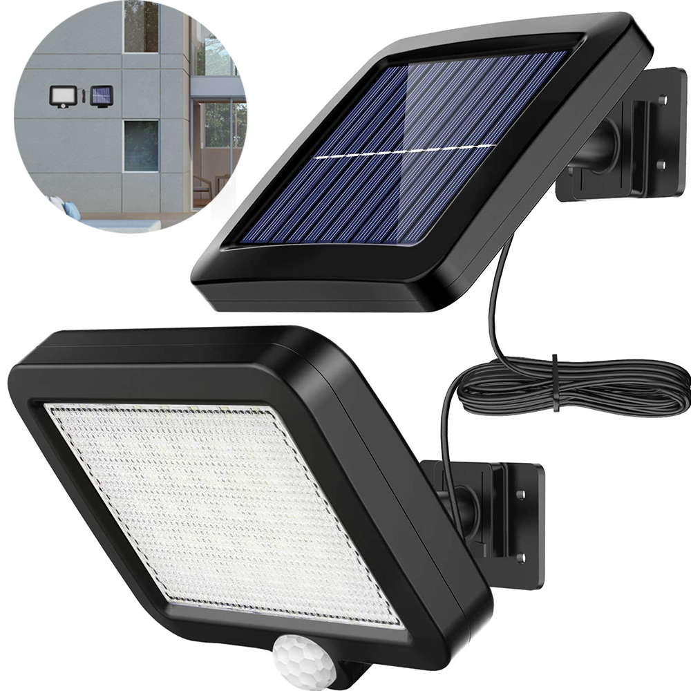 LED Solar Powered PIR Motion Sensor Wall Light Outdoor Garden Security Lamp IP65