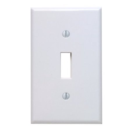Leviton 88001 White Single Gang Toggle Light Switch Wall (Safari Switchplate)