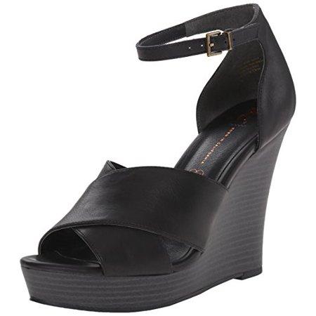 BC Footwear Women's Scenic Route Wedge Pump, Black, 9.5 M US