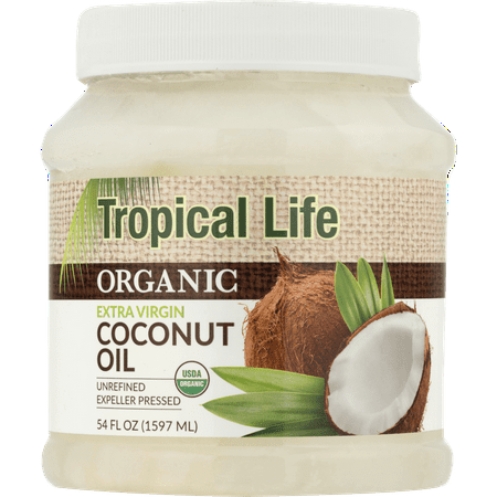 Whole Coconut Oil (Tropical Life Organic Extra Virgin Coconut Oil, 54 Oz)