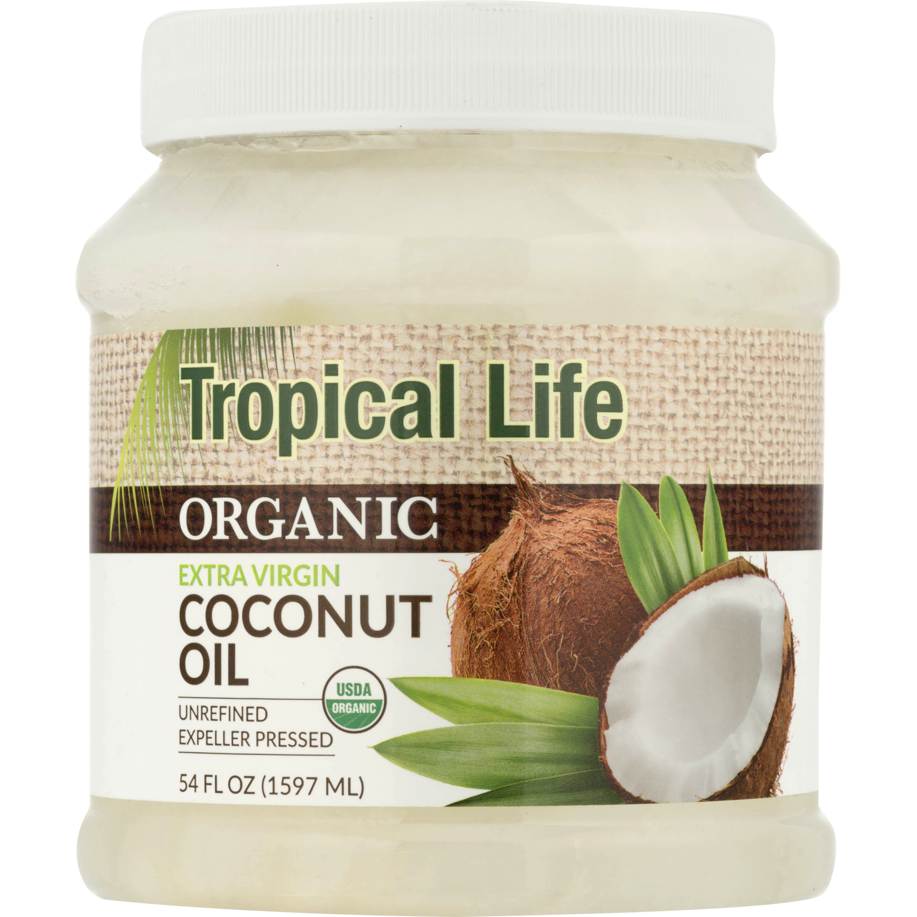 Carrington Farms Tropical Life Organic Extra Virgin Coconut Oil, 54.0 FL OZ