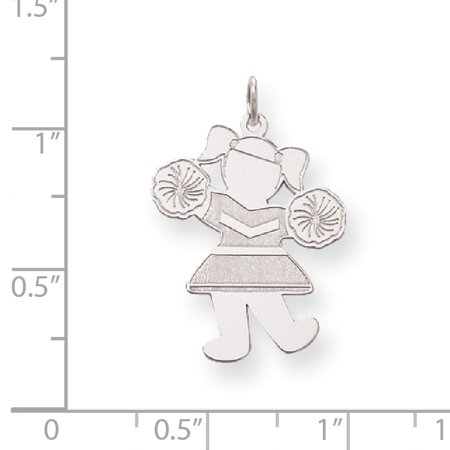 Sterling Silver Hip Hip Hooray Cuddle Charm XK1833SS (26mm x 20mm) - image 1 of 2