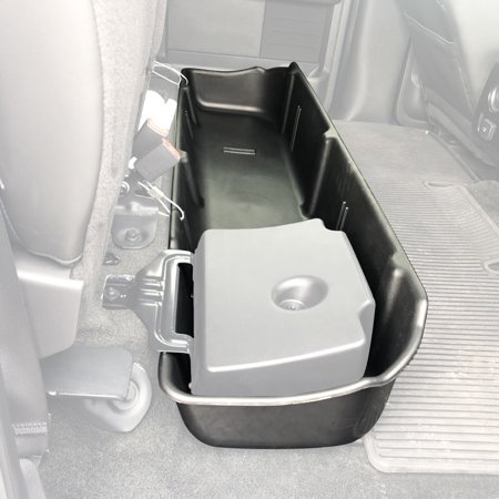 Under Seat Storage Box for 2009-2014 Ford F150 SuperCrew Crew Cab with OEM Subwoofer