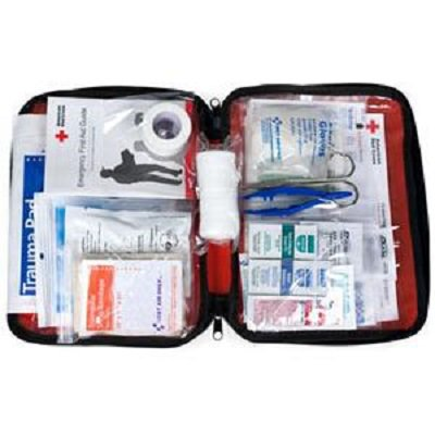 American Red Cross Be Red Cross Ready First Aid Kit  Red, 1 (American Safety And Health Institute First Aid)