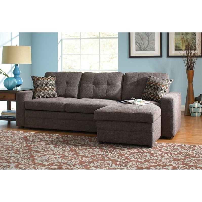Coaster Chenille Sleeper Sofa With