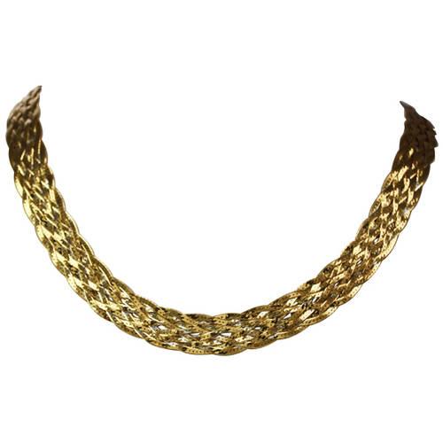 Ss/18kpl Braid Necklace
