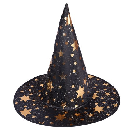 HDE Witch Hat Halloween Costume Cosplay Wicked Witch Accessory Adult One Size (Witch Hat Costume)