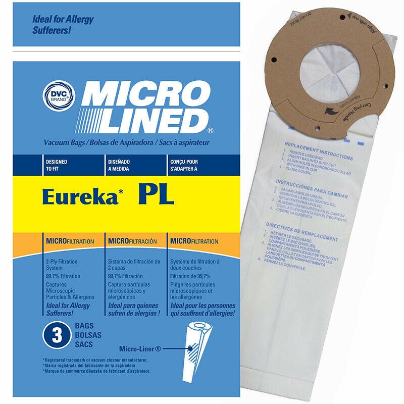 Eureka Style PL Vacuum Bags Micro Allergen Filtration Vac Type Maxima LightSpeed