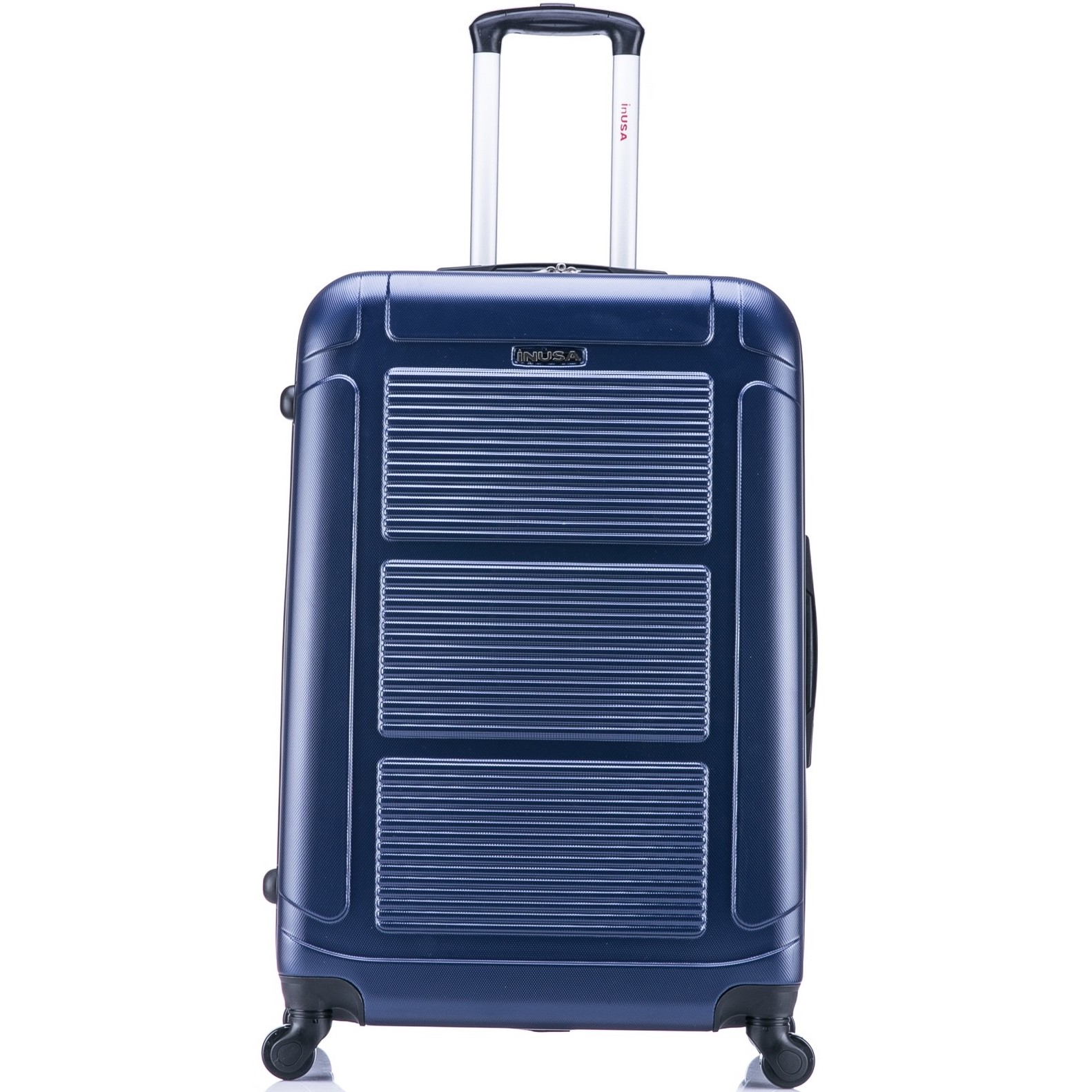 InUSA Pilot 28u0022 Hardside Spinner Suitcase - Navy Blue