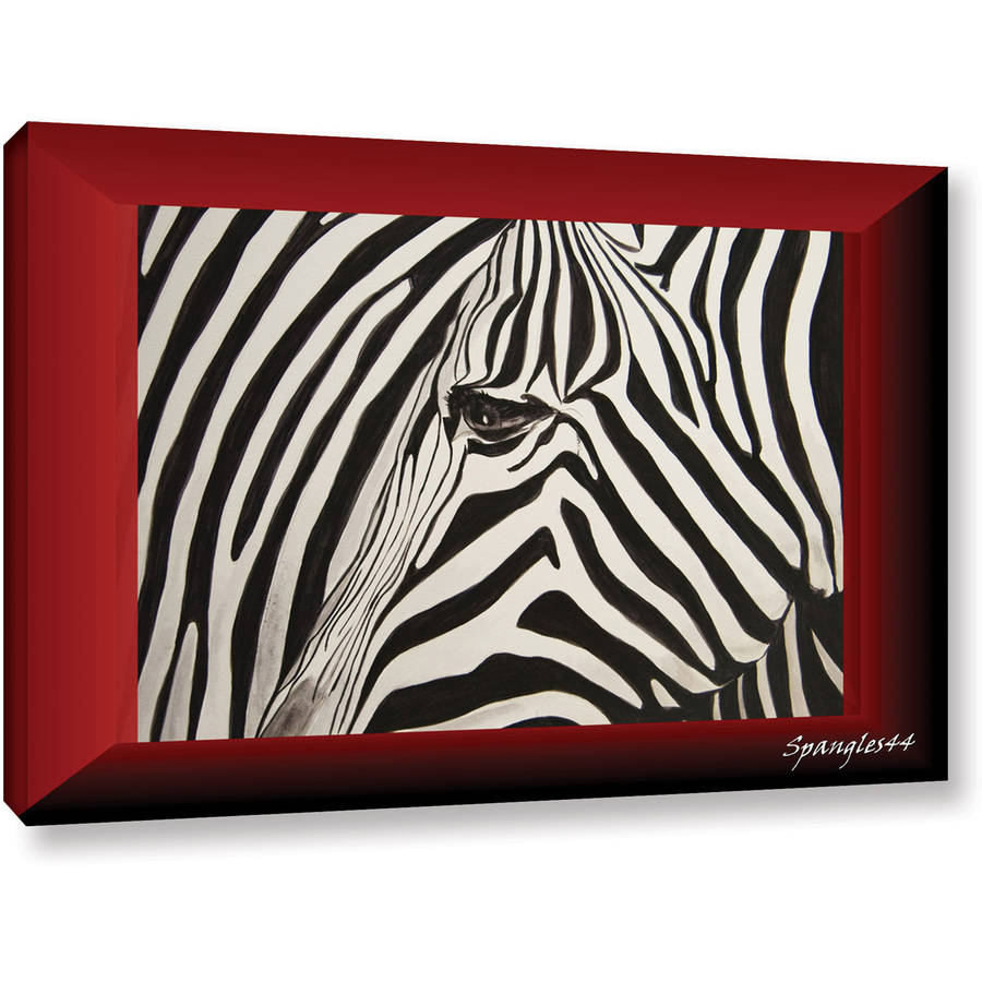 """Lindsey Janich """"Zebras Abstract"""" Gallery-Wrapped Canvas"""