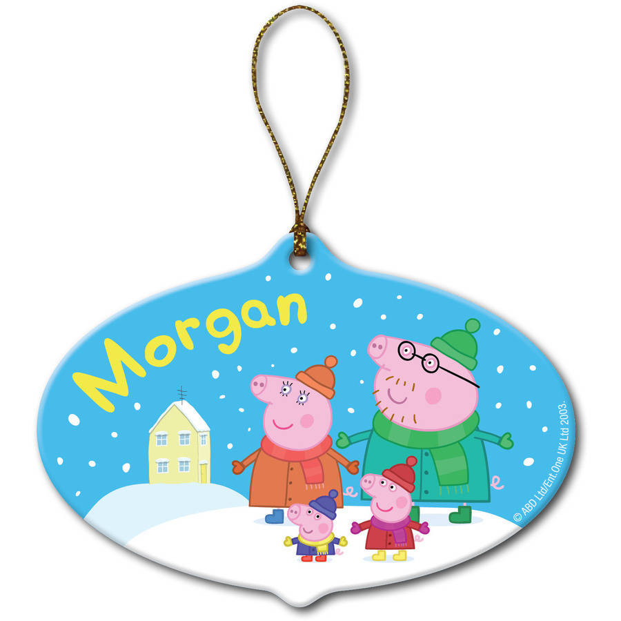 Personalized Peppa Pig Christmas Ornament