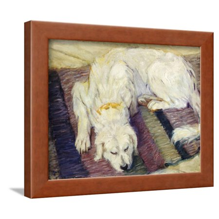 Reclining Dog (Portrait of a Dog), 1909 Framed Print Wall Art By Franz Marc