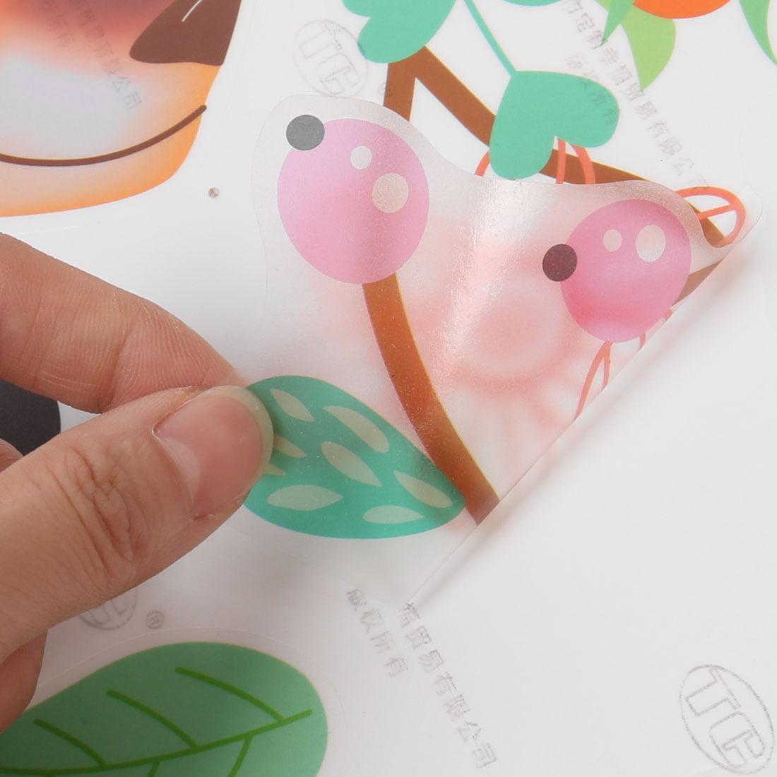 Room PVC Deer Pattern Self-adhesive Window Film Wall Sticker Decal Multicolor - image 2 of 3