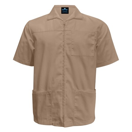 MAZEL UNIFORMS MENS ZIP UP WORK SHIRT