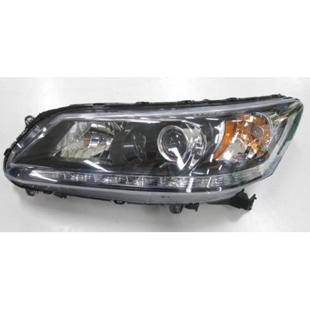 Go-Parts OE Replacement for 2013 - 2014 Honda Accord Front Headlight Assembly Housing / Lens / Cover - Left (Driver) Side - (EX-L 3.5L V6 Sedan + Touring 3.5L V6 Sedan) 33150-T2A-A21 (2017 Honda Accord Ex L V6 Automatic Coupe)