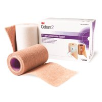 3M Coban 2 Layer Compression Bandage System Brown NonSterile 8 /Case
