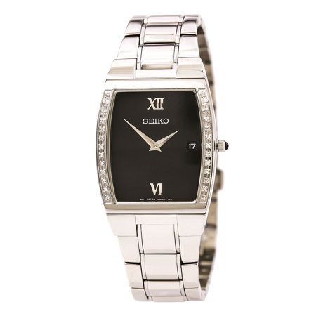 Seiko Men's Quartz Diamond Watch SKP319