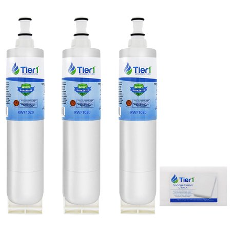 Tier1 Replacement for EveryDrop 4396508/4396510 Refrigerator Water Filter Replacement (3-Pack) and Magic Erasing Sponge (12-Pack) Combo Water Filter Combo Pack