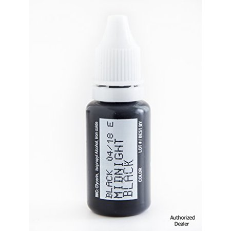 15ml MICROBLADING BioTouch MIDNIGHT BLACK Cosmetic Pigment Color Tattoo Ink LARGE Bottle pigment professionally tested permanent makeup supplies Eyebrow Lip Eyeliner microblading supplies pigment Cats Eye Pigment Ink