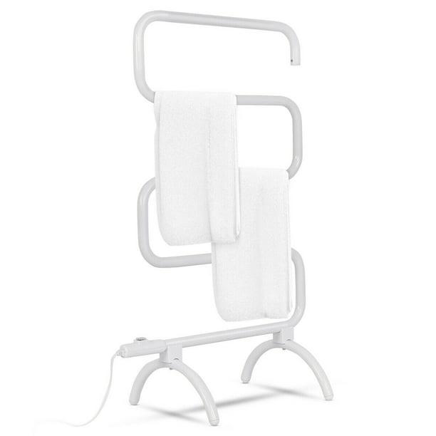 Goplus 100w Electric Towel Warmer Drying Rack Freestanding And Wall Mounted White Walmart Com Walmart Com