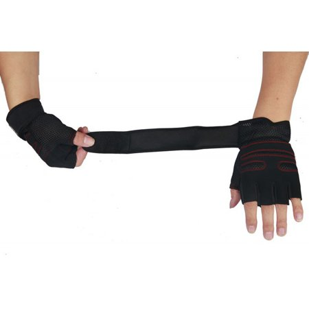 Mosunx Weight lifting Gym Gloves Training Fitness Wrist Wrap Workout Exercise Sports