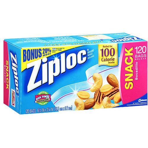 Ziploc Snack Bags, 120 Ct