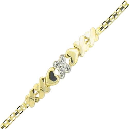 Diamond Accent 10kt Yellow Gold Heart An