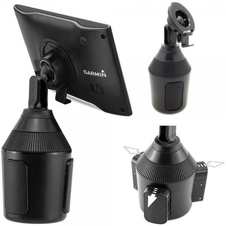 AccessoryBasics Low Profile Drinks Cup Holder Mount for Garmin Nuvi Drive DriveSmart 42 52 52LM 54 54LM 55 55LM 55LMT 56 57 57LM 58 58LM 60 61 2577LT 2597LM 2597LMT 2558LMTHD 2598LMTHD GPS Streamlight Low Profile Mount