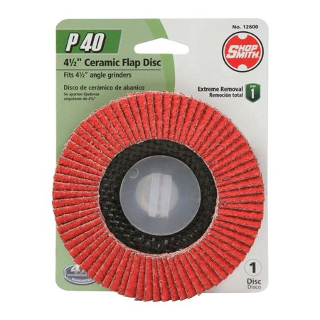 Shopsmith 12600 Flap Disc, 40 Grit, Zirconium (Shopsmith Parts)