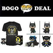 BOGO: Buy Any Size Walmart Exclusive Batman 80th POP & Tee Get 1 POP! Free