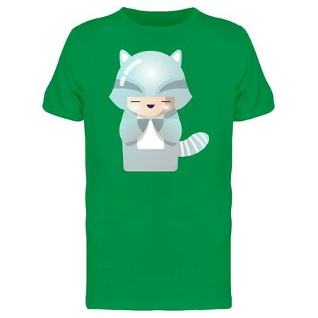 Kokeshi Raccoon Doll Tee Men