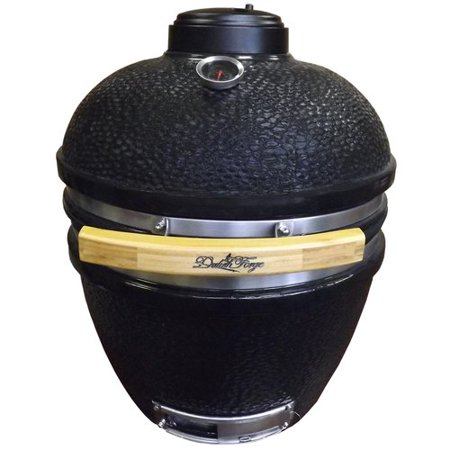 Duluth Forge 16 5 Kamado Built In Charcoal Grill With Smoker