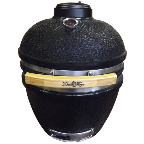Duluth Forge 16.5'' Kamado Built-In Charcoal Grill with Smoker