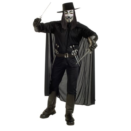 V FOR VENDETTA COSTUME STD - Halloween Vendetta Costume