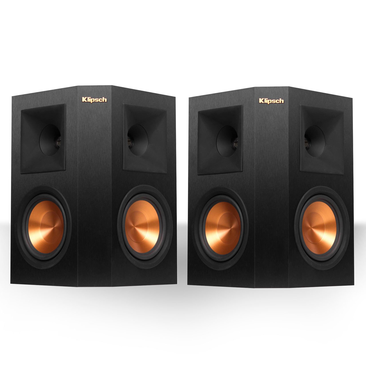 "Klipsch RP-250S Reference Premiere Surround Speakers with Dual 5.25"" Cerametallic Cone Woofers - Pair (Ebony)"