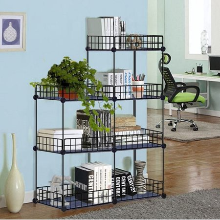 Grid Wire Modular Storage Cubes, No Tools Easy Assembly