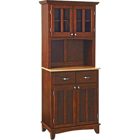 Home Styles Small Buffet & Two-Door Hutch, Cherry with Natural Finish Top