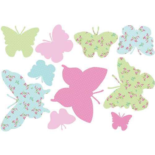 Fun4Walls Pastel Butterflies Wall Decals