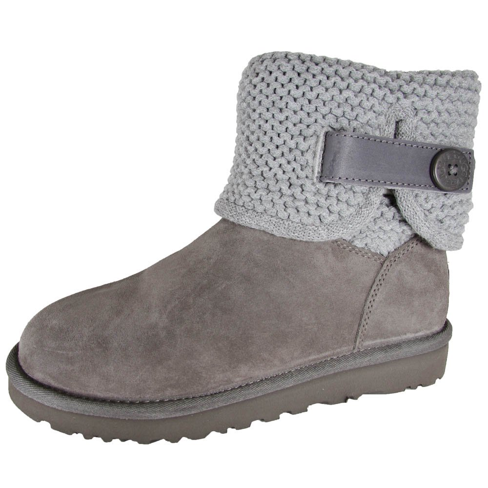 72d0970c2b4 Buy UGG Womens Shaina Knit Boot Shoes, Grey, US 7 | Cheapest UGG ...