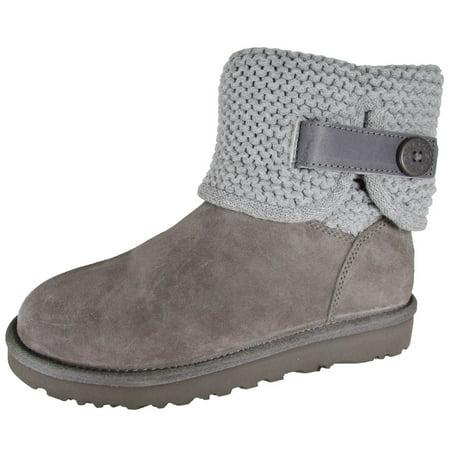 e9d216380e0 UGG Womens Shaina Knit Boot Shoes, Grey, US 7