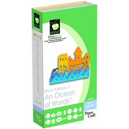 Cricut Classmate Cartridge, Word Builders 3 An Ocean of Words, Font cartridge for use with all Cricut machines By Provo Craft Novelty Cricut from USA