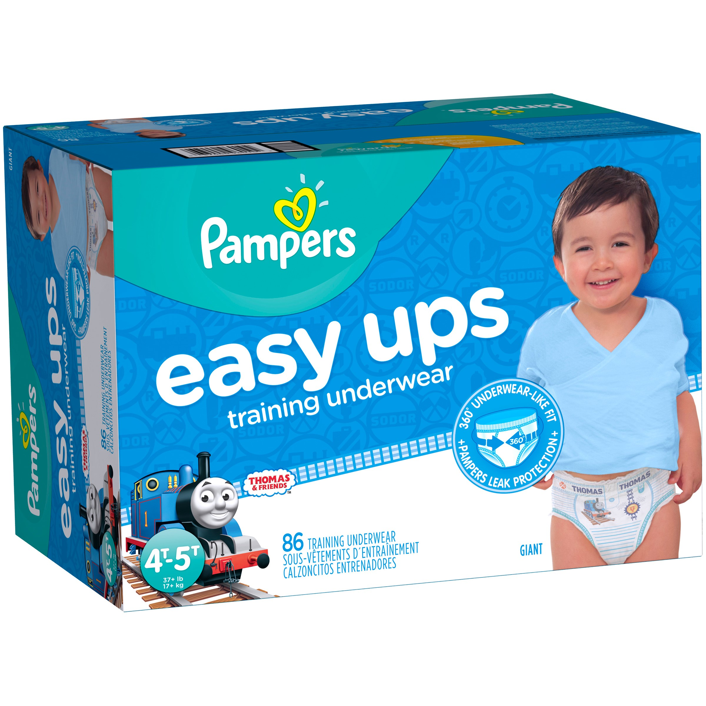 Pampers Easy Ups Boys Training Pants (Choose Pant Size and Count)