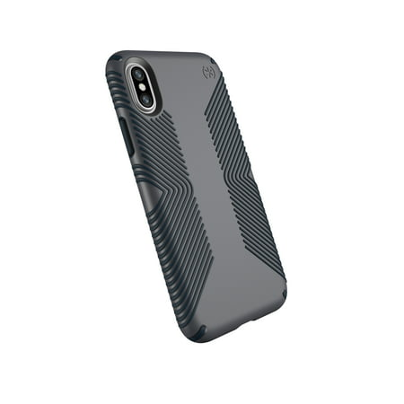 sports shoes 70447 453db Speck Presidio Grip for iPhone X, Graphite Grey/Charcoal Grey