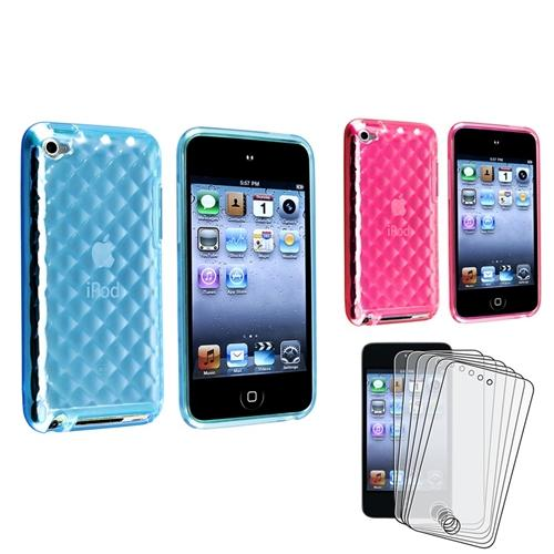 Insten His-and Hers Love Pack Gift Case+6x Anti-Glare Shield For Apple iPod Touch 4 4G 4th