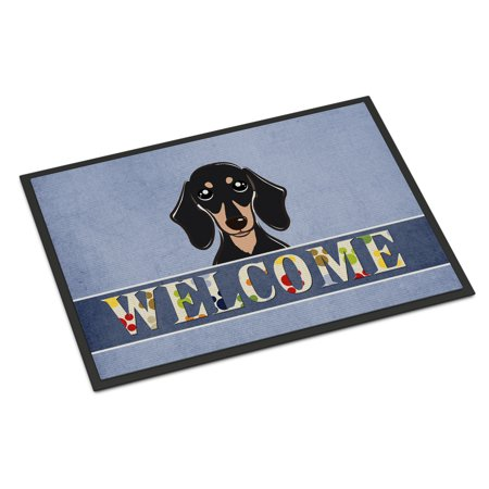 Black And Tan Dachshund (Smooth Black and Tan Dachshund Welcome Door)