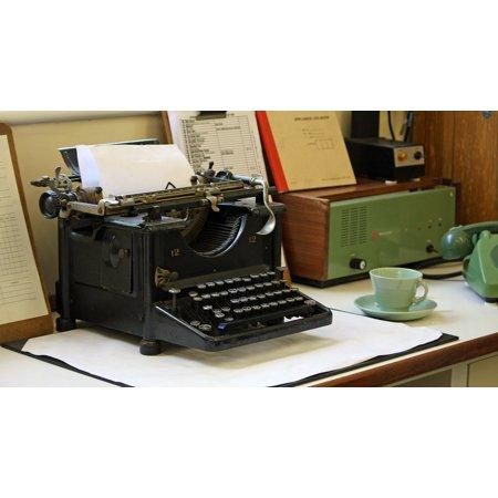 LAMINATED POSTER Typewriter Antique Old Fashioned Antique Typewriter Poster Print 24 x 36