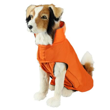 Dog Coat Waterproof Nylon Fleece Lined Jacket Reflective Dog Jacket Warm Dog Coat Climate Changer Fleece Jacket Easy On and Off