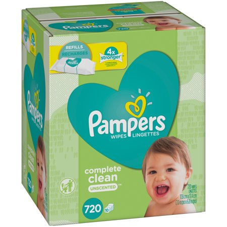 Pampers Complete Clean Unscented Baby Wipes Refills (720 count)