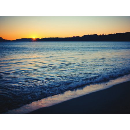 Beautiful Beach Sunset Home Office Wall Artwork Decoration Posters, Small Signs - 18x24