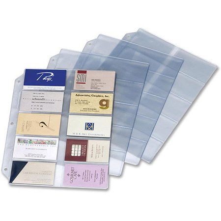 Cardinal ring binder business card refill sheets walmartcom for Business card holder sheets